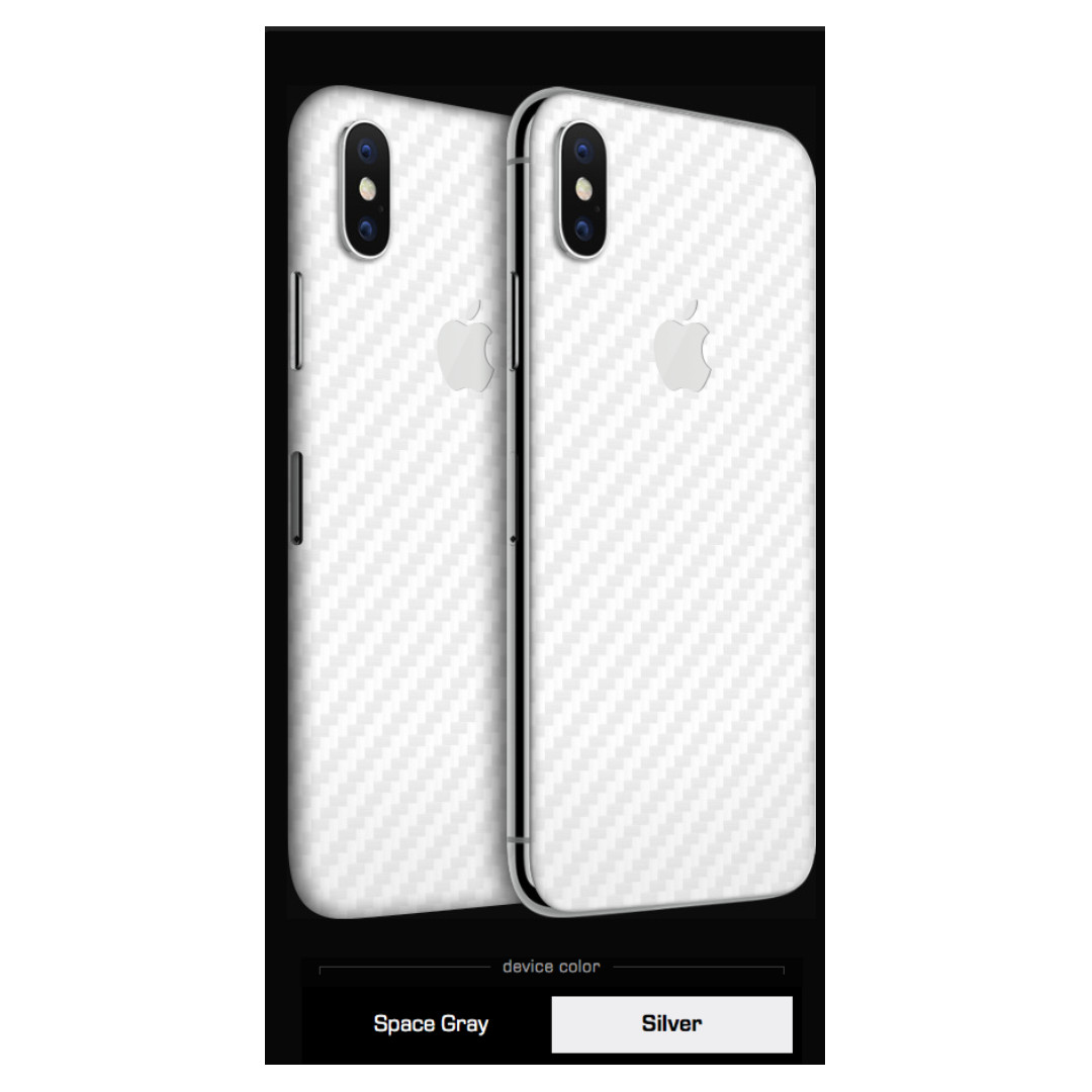 separation shoes f149c f86ef Authentic dbrand iPhone X white carbon fiber skin