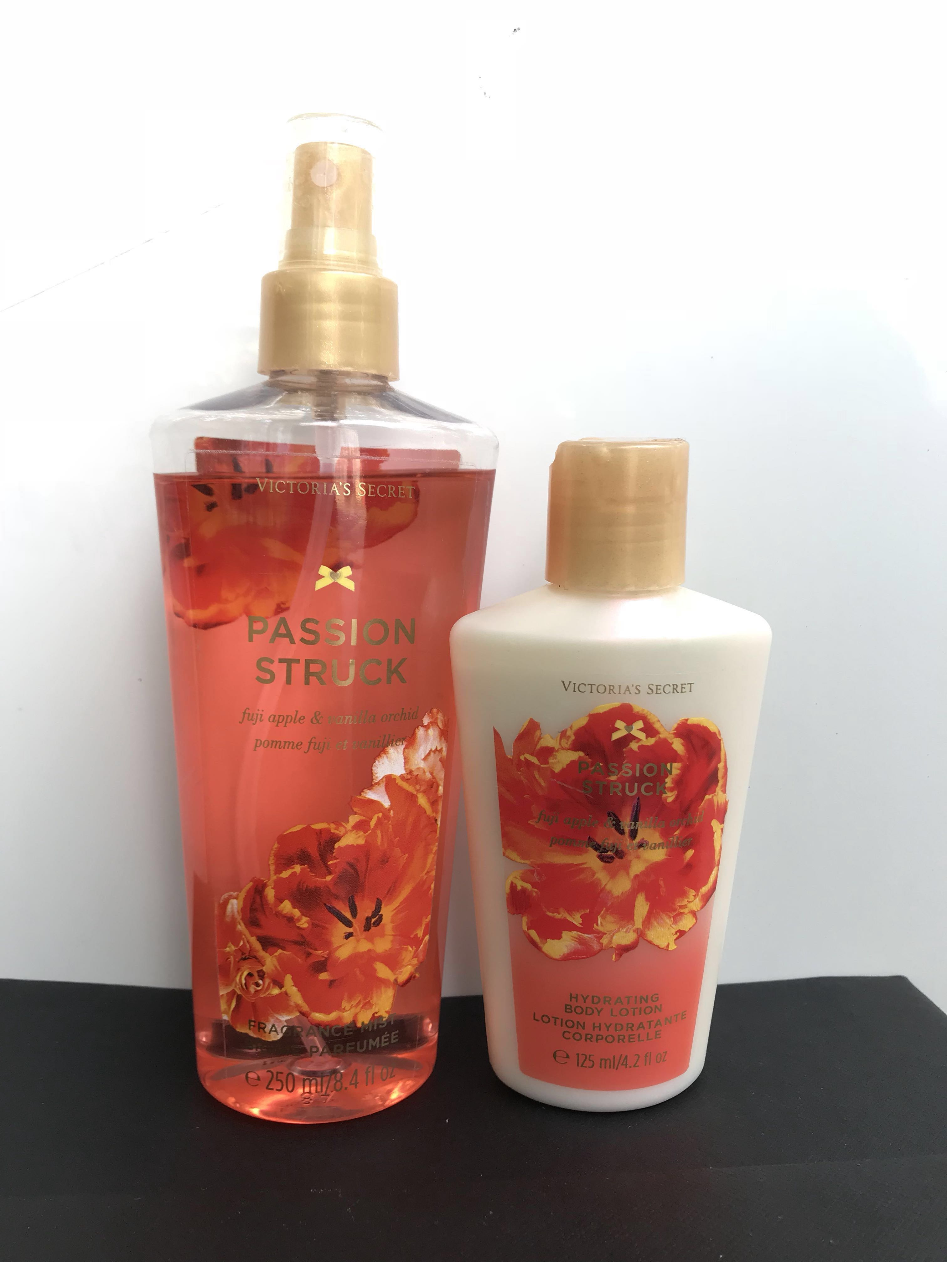 Authentic Victoria Secrets Passion Struck Body Mist 250ml Botol Plastik Ps 250 Lotion 125ml Health Beauty Perfumes Nail Care Others On Carousell