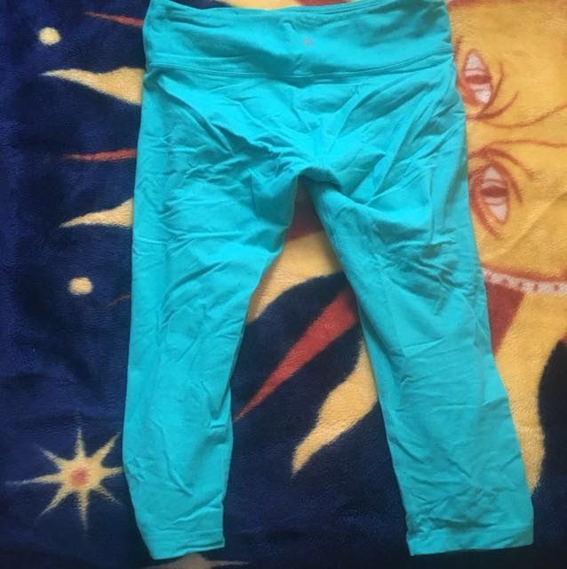 Blue lululemon leggings size 8