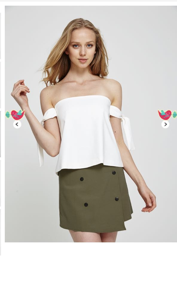 6c058c781f77 BN Kaysa Double Breasted Skirt in Olive, Women's Fashion, Clothes ...