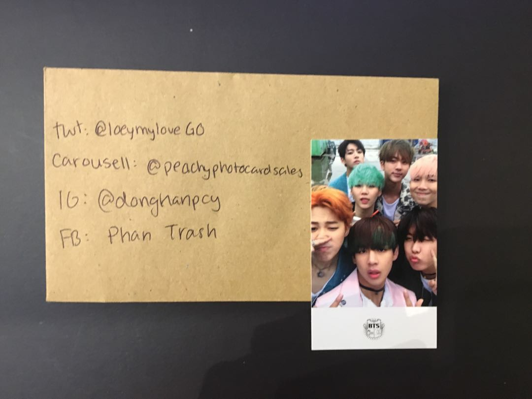 Bts hyyh pt. 2 Group Photocard