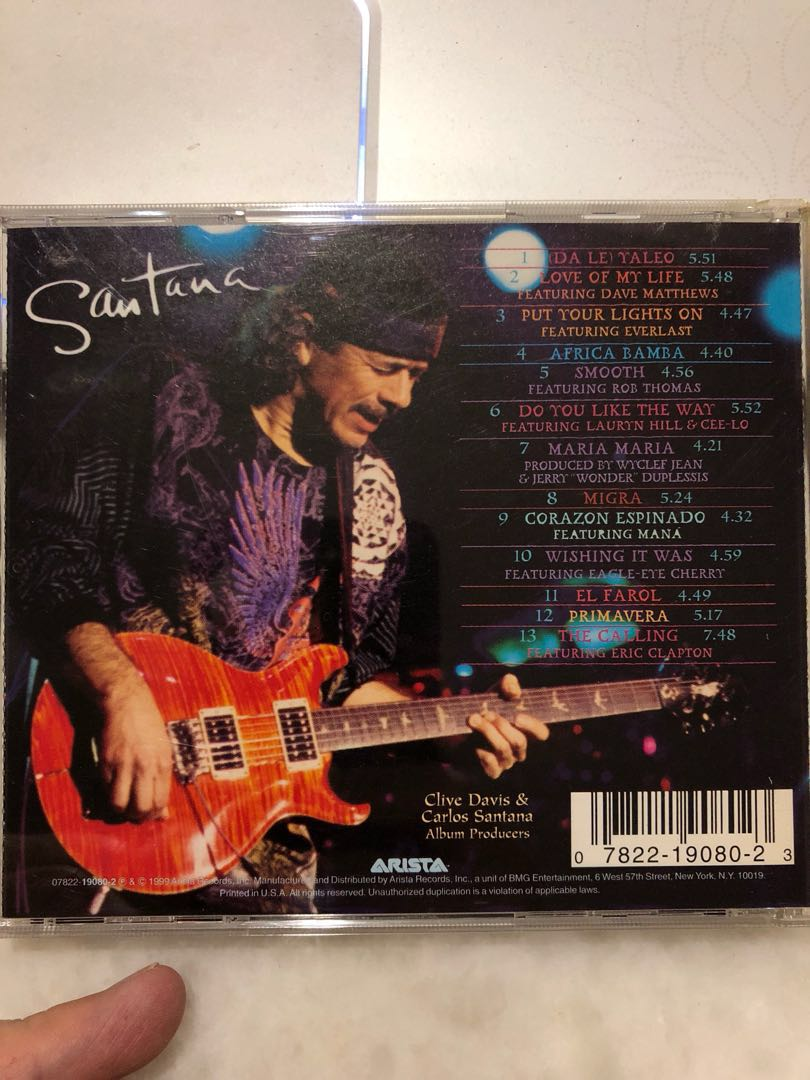 cd santana supernatural music media cds dvds other media