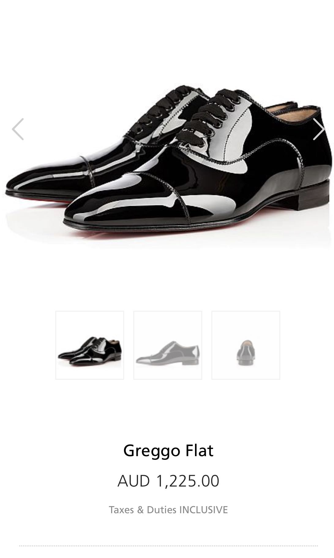 30d97cdc2be Christian Louboutin Mens Greggo Flat Patent Leather Shoe, Luxury ...