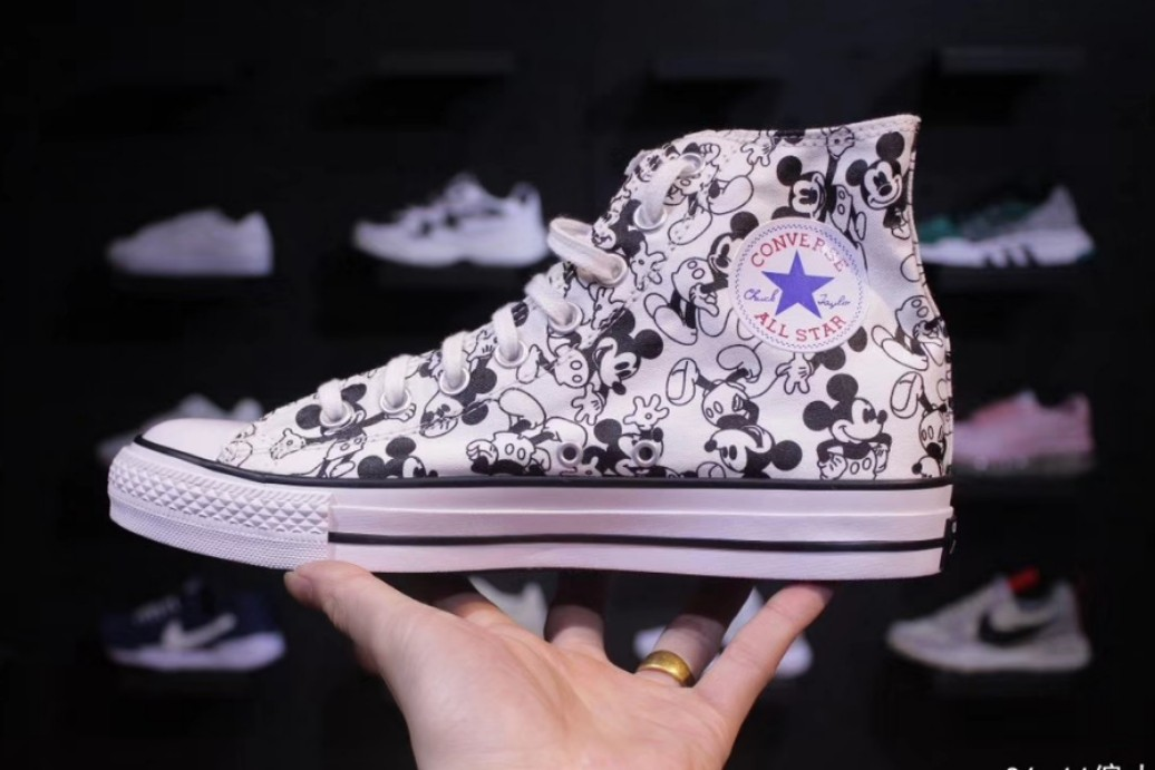 5ef33161af4 Converse x Disney Mickey Mouse, Women's Fashion, Shoes on Carousell