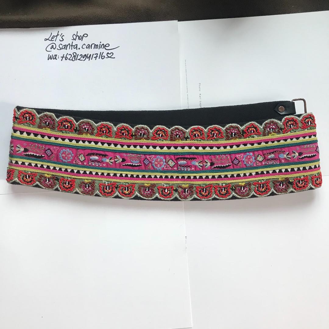 cristian lacroix cummerbund obi waist belt