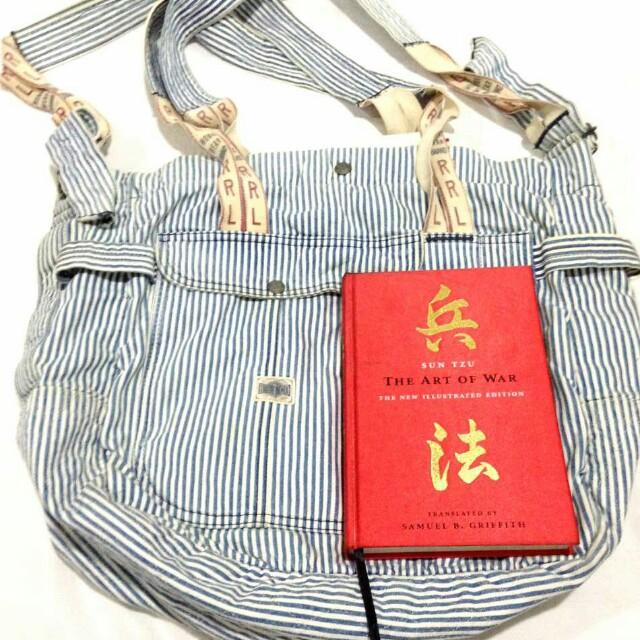 f304677715 Double RL RRL Ralph Lauren Hickory stripe 2 way bag, Women's Fashion ...