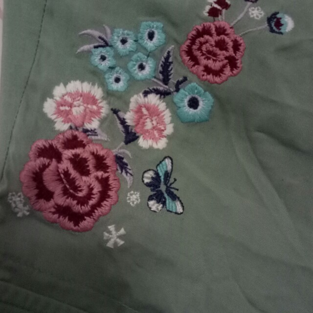 Embroidered Cotton pants