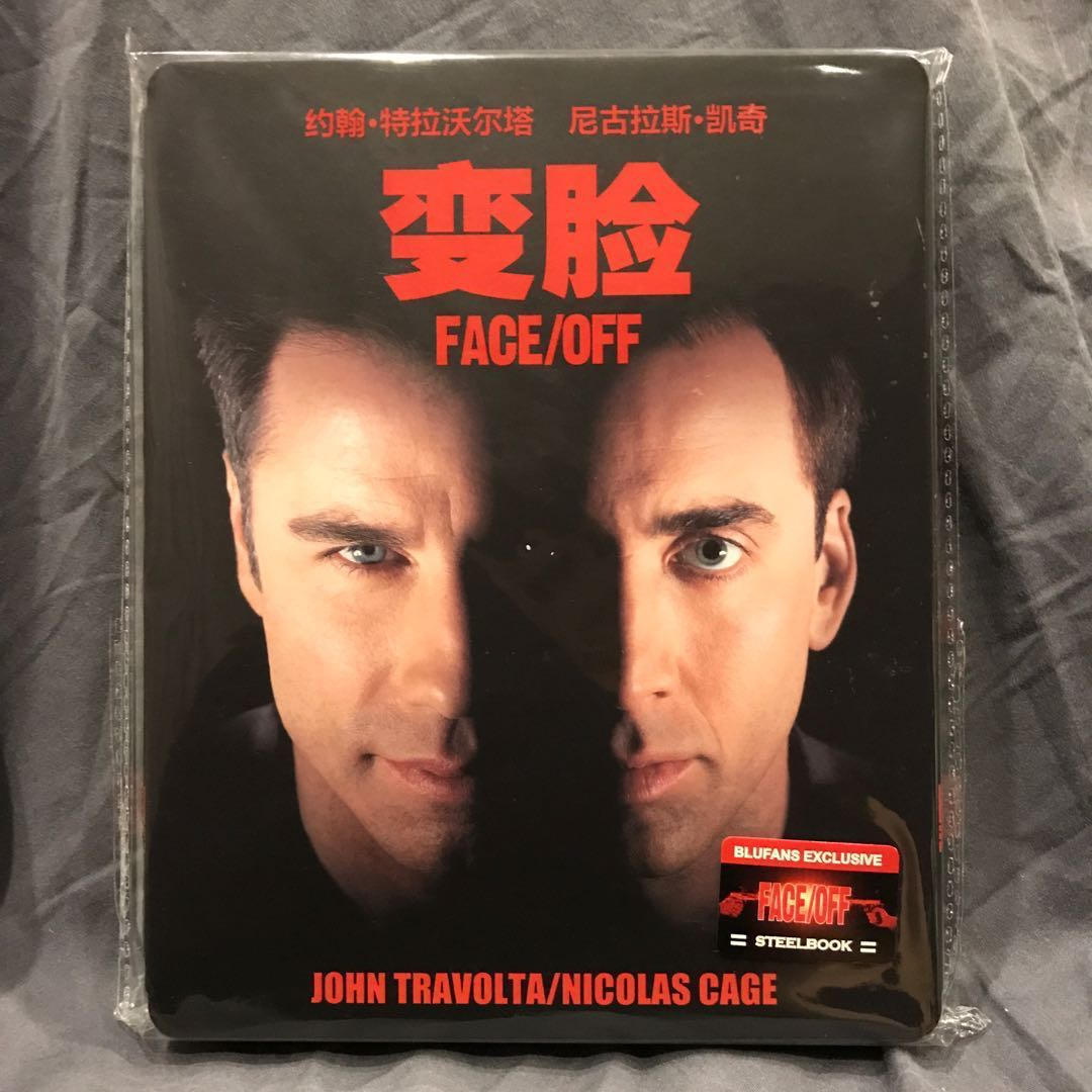FACE OFF Blu-ray [Face Off Bluray] BLUFANS Exclusive No.5 Steelbook Copy No. 928 OOP US$79 | S$98