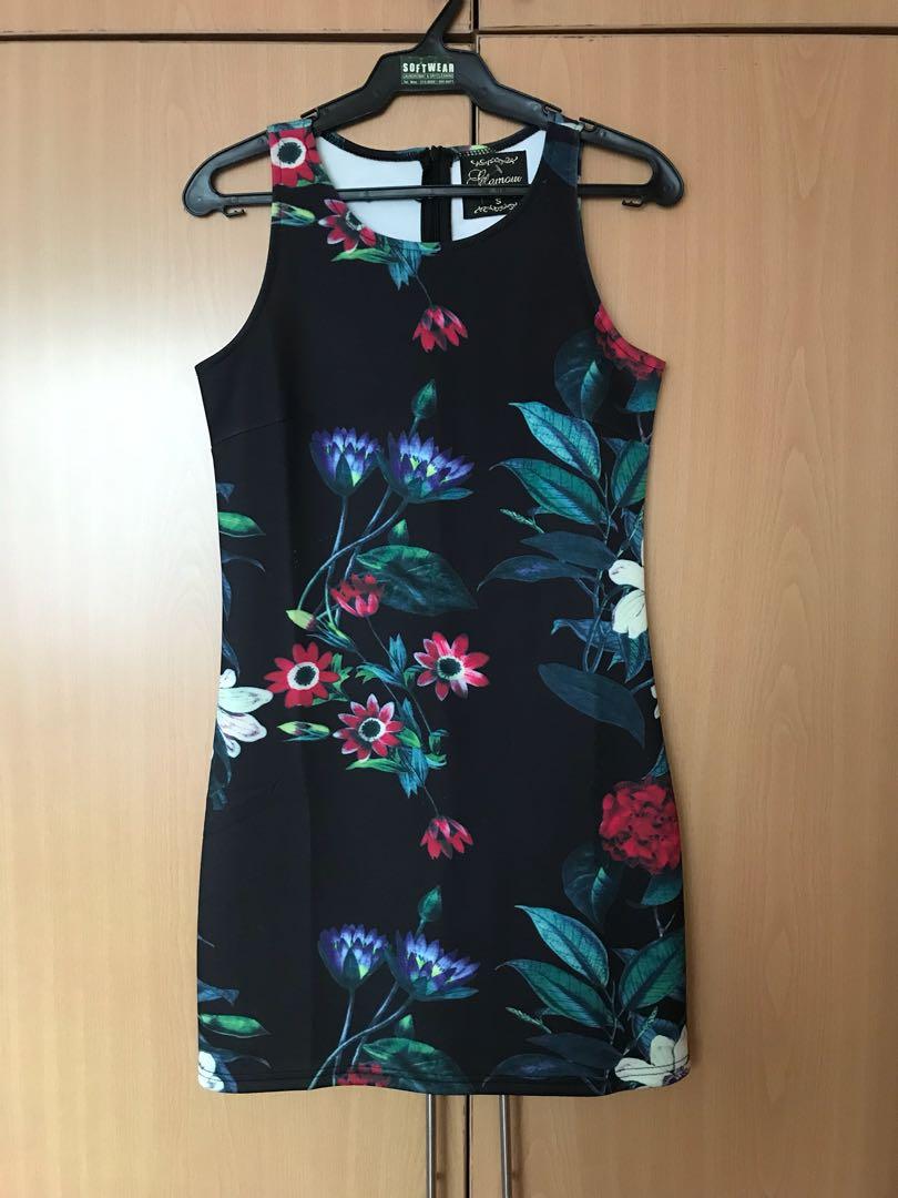 Floral Bodycon Mini Dress