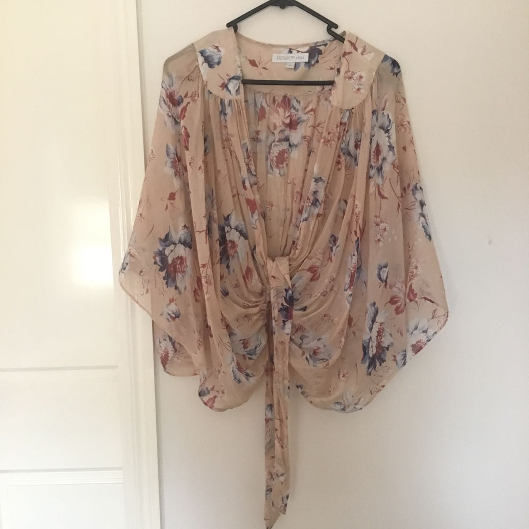 Floral top shawl