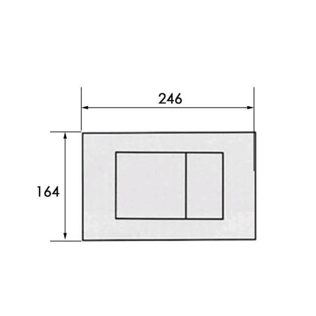 newest ed4db 0107c GEBERIT BOLERO - 115.777.46.1 Actuator Flush Plate ...
