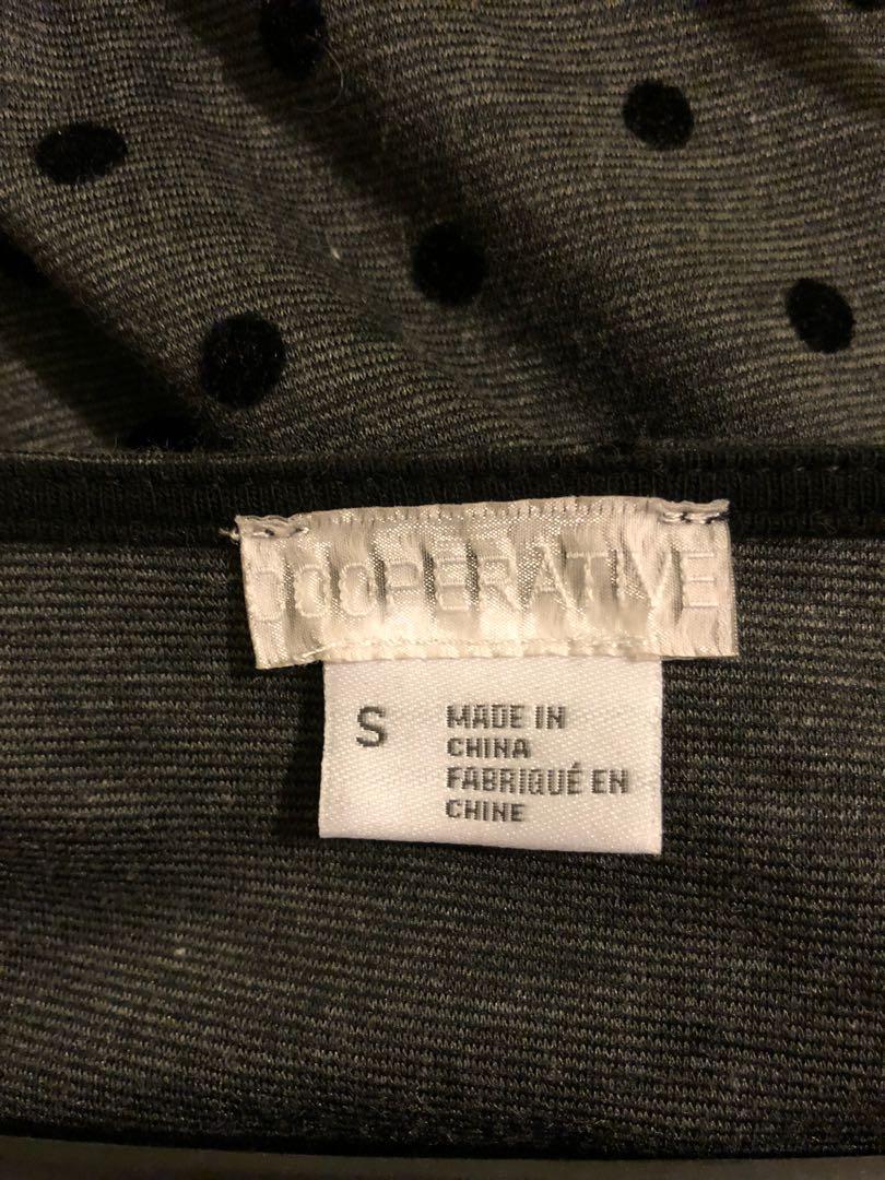 Grey black dotted bodysuit