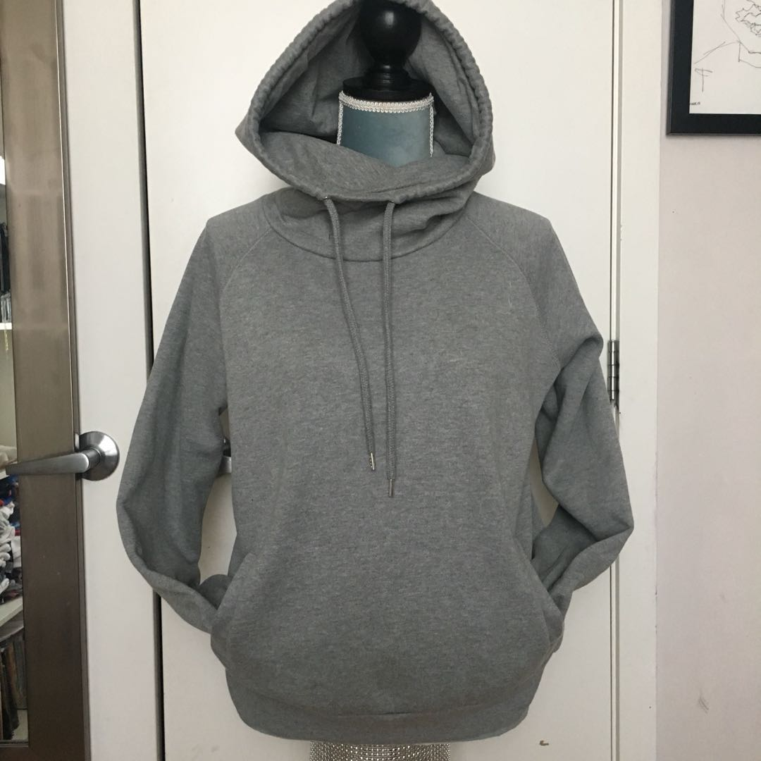 Grey Cowl Neck Sweater Size M