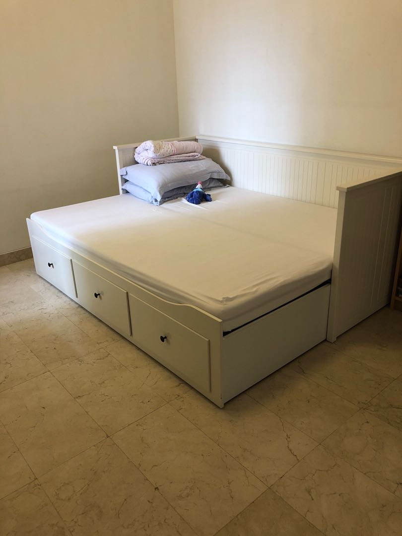 - IKEA Hemnes Daybed With 2 Malfors Firm Mattress, Furniture, Beds