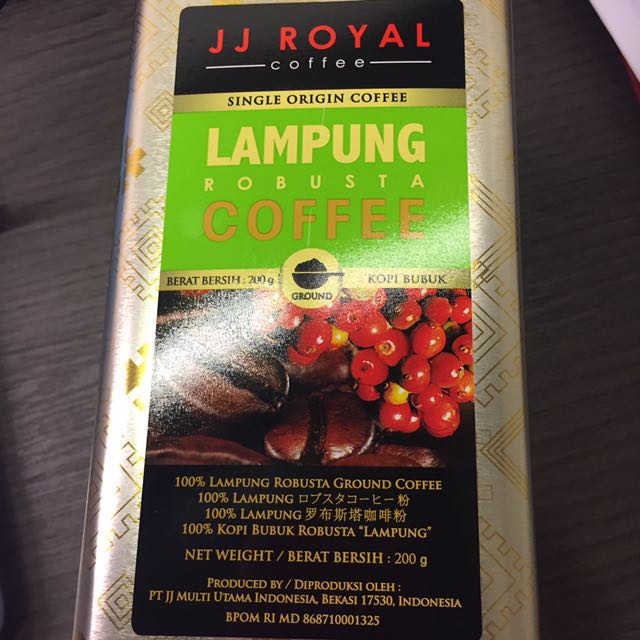 Lampung Robusta Ground Kopi Bubuk Tin 200gr Source · JJ Royal Coffee 3 .