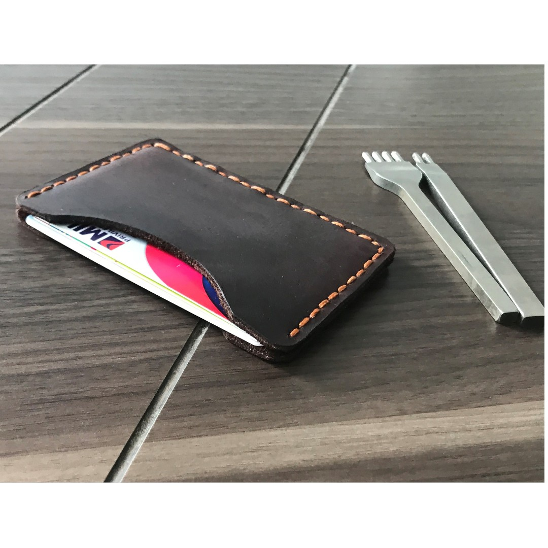 Leather Handmade Wallet Card Holder + engraving