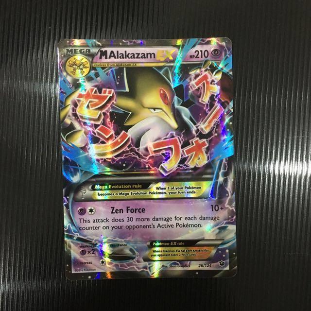 Mega Alakazam Ex Ultra Rare Toys Games Board Games Cards On