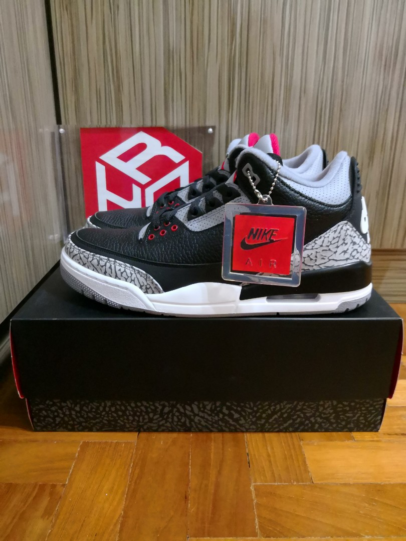 new styles bbadb 01ad5 Nike Air Jordan 3 Retro OG Black Cement