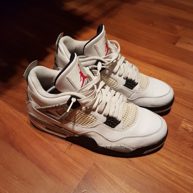 promo code c897a b126c Nike Air Jordan 4 Retro OG ( White Cement ) 840606192, Men s Fashion ...