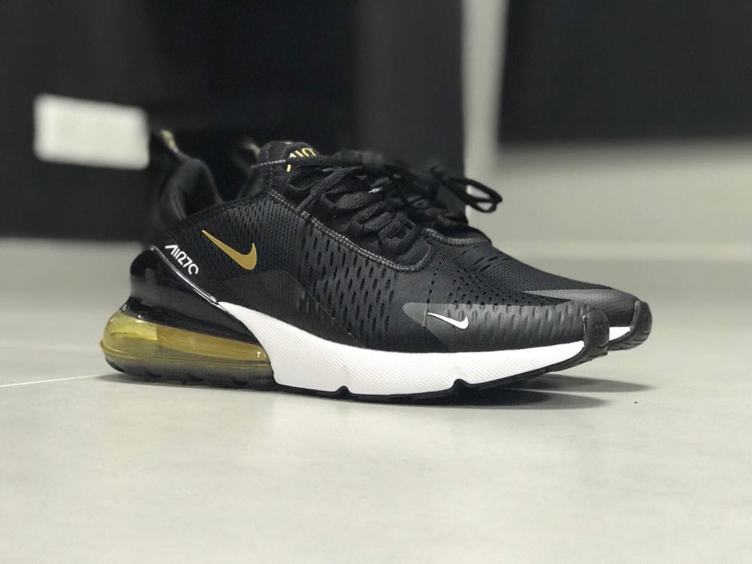 newest collection 29b54 dcaec NIKE AIRMAX 270 BLACK GOLD