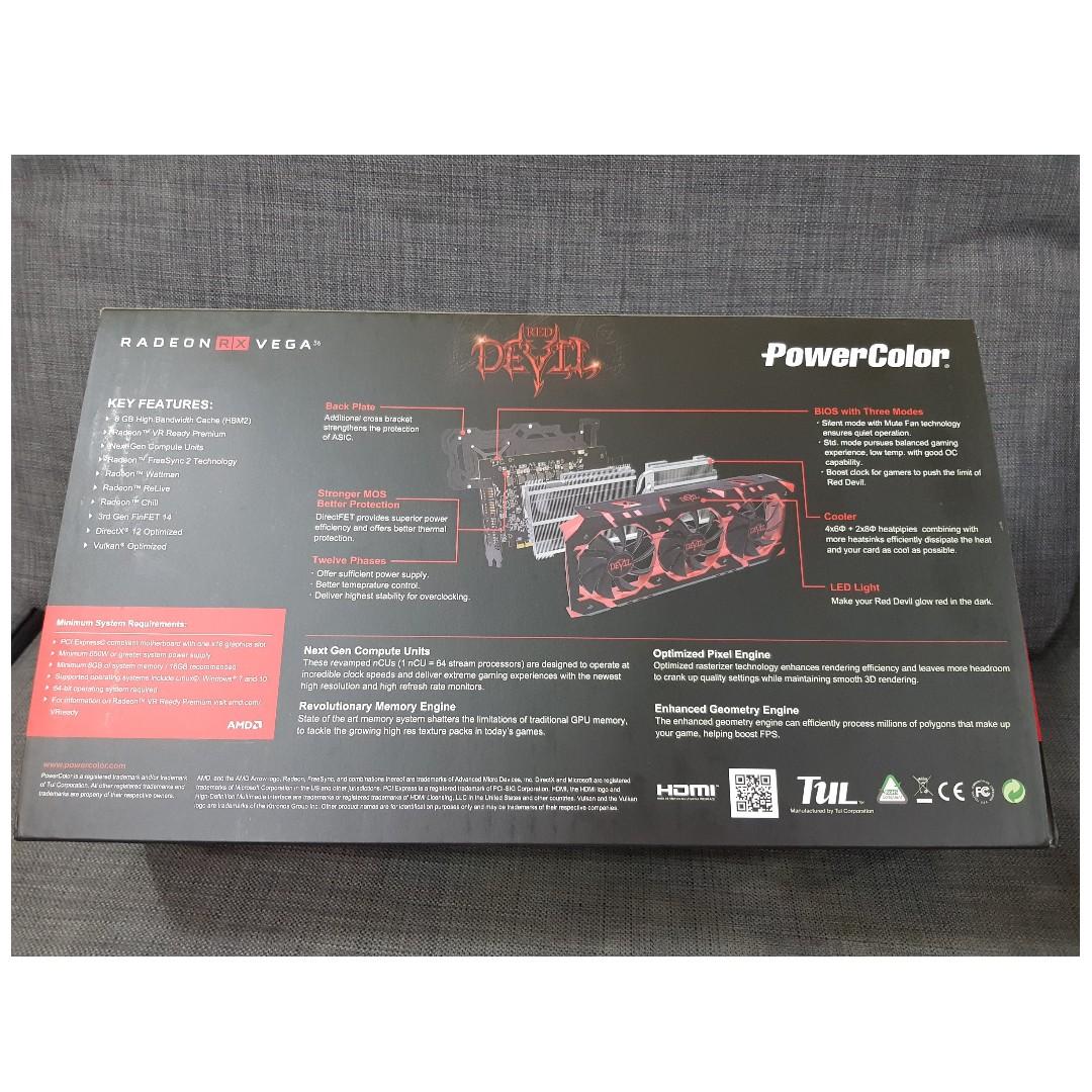 PowerColor RED DDEVIL RADEON RX VEGA 56 8GB HBM2