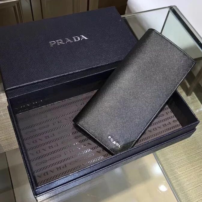eee1675c4287fc ... get prada men logo embossed leather long wallet 3 designs mens fashion  bags wallets wallets on