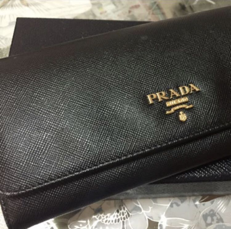 8d14eda14cb5 best price prada saffiano multicolour leather flap wallet womens fashion  bags wallets on carousell b057e c00e7