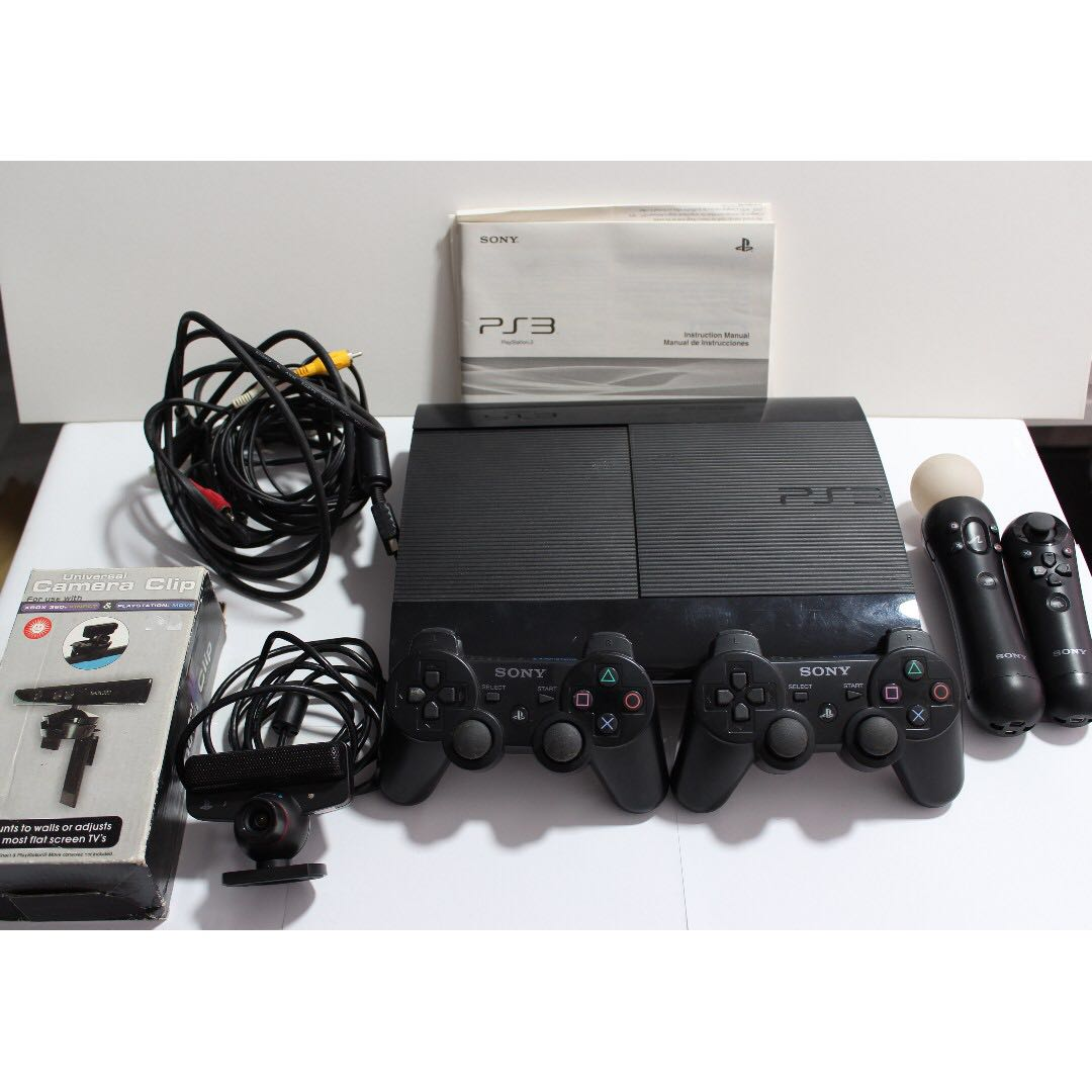 PS3 500GB with Games, PS Eye Camera, PS Move Motion and Move Navigation  Controller