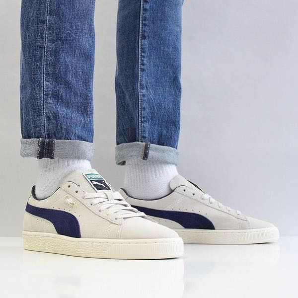 Footwear Suede Fashion Blue Puma Archive On Men's Grey Classic 1wxvfq