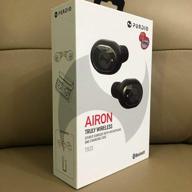 PURDIO AIRON TX33 TRUE WIRELESS BLUETOOTH IN-EAR EARPHONE WITH MIC