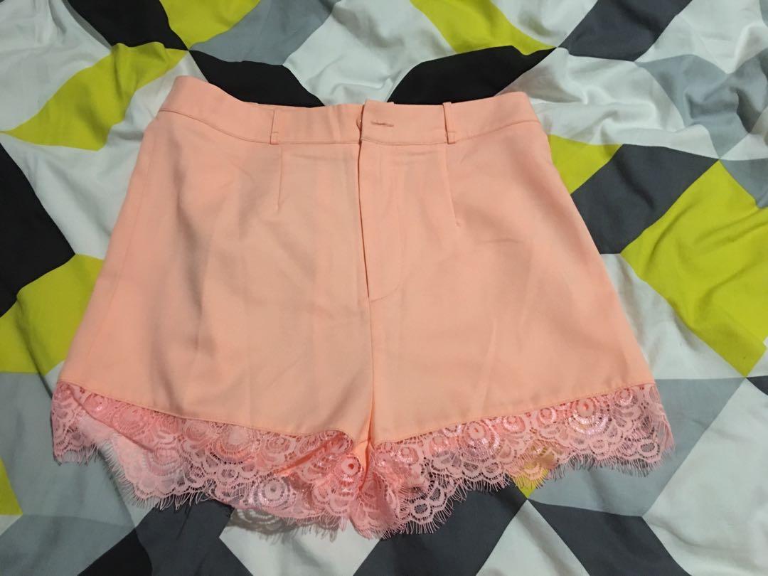 Samon coloured shorts