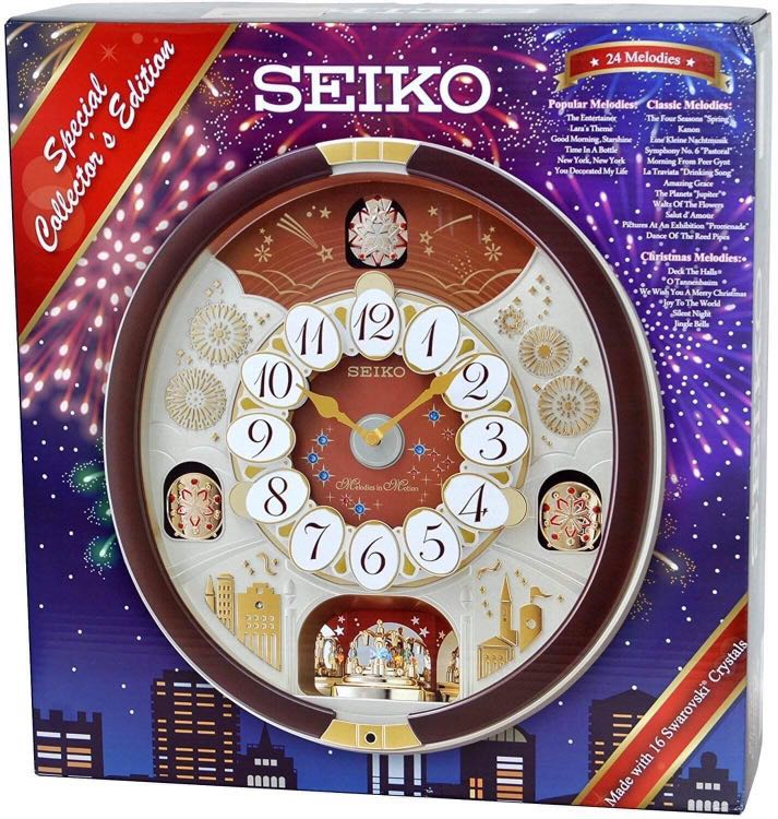 Seiko Melos In Motion Wall Clock With Swarovski Crystals Home Furniture On Carou