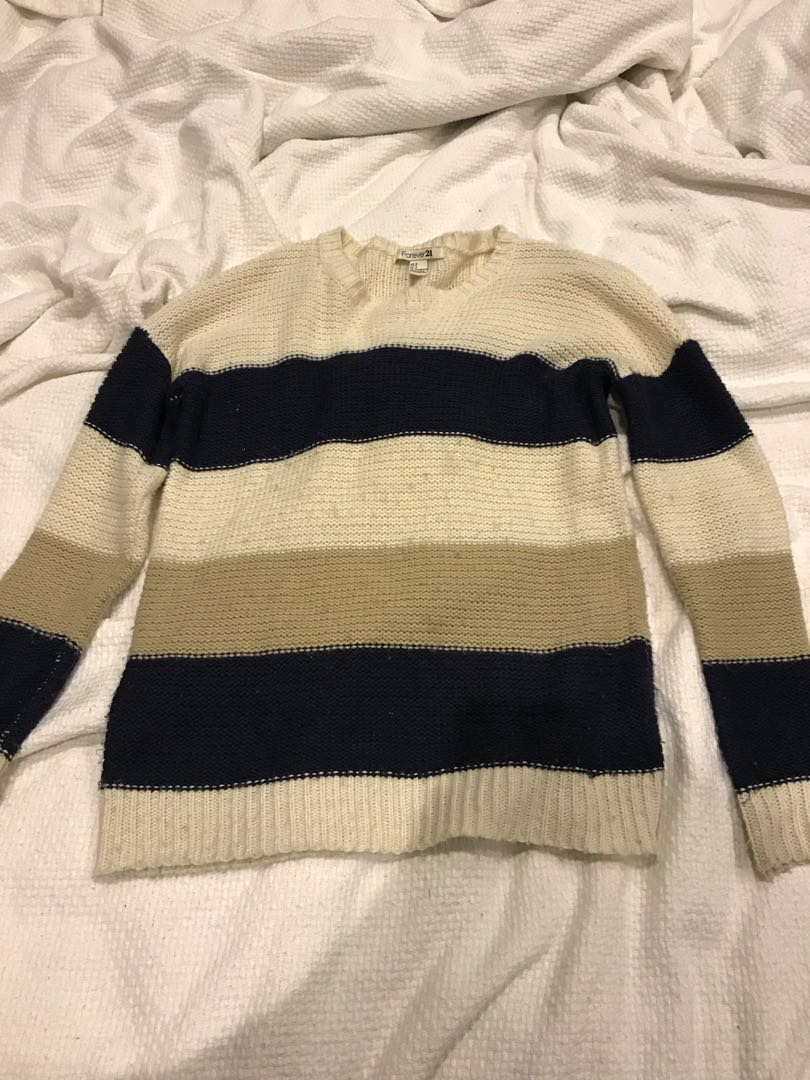 Strip knit sweater