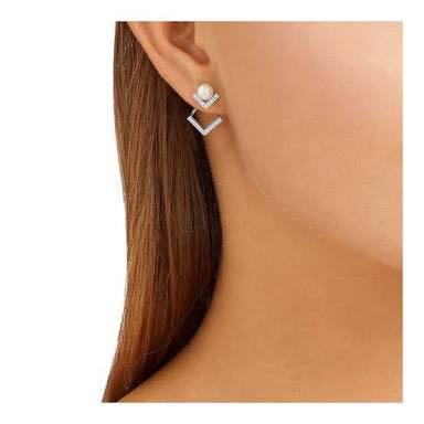 Swarovski Edify earring jacket rhodium (silver color)
