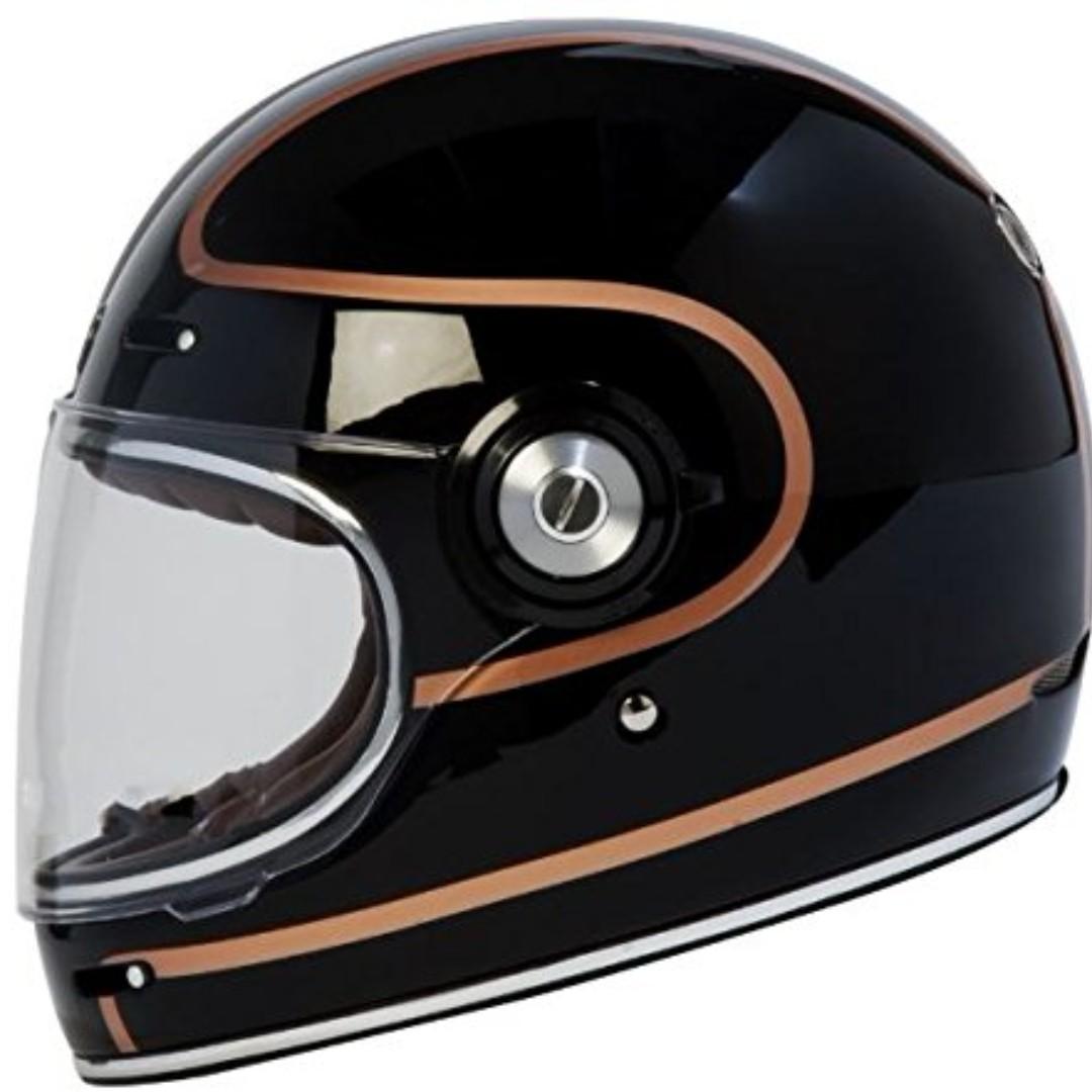TORC T1 Retro Fiberglass Full Face Helmet Style Motorcycle Motorbike Cafe Racer Bell Bullitt Biltwell Spaceman Astronaut