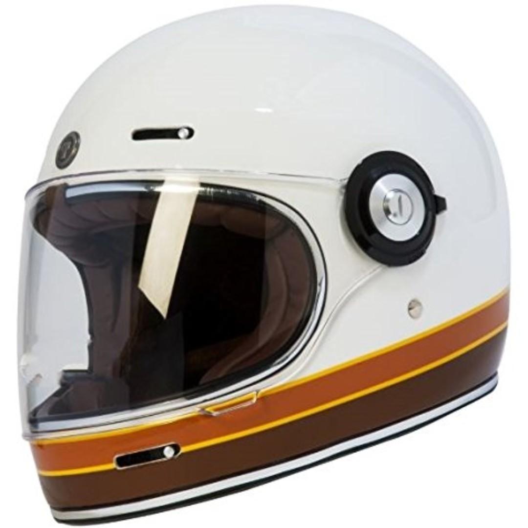 Torc T1 Retro Fiberglass Full Face Helmet Style Motorcycle Motorbike Cafe Racer Helmet Bell Bullitt Style Biltwell Style Spaceman Astronaut Helmet Motorcycles Motorcycle Accessories On Carousell