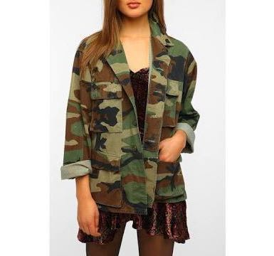 💕Vintage camo army oversized jacket