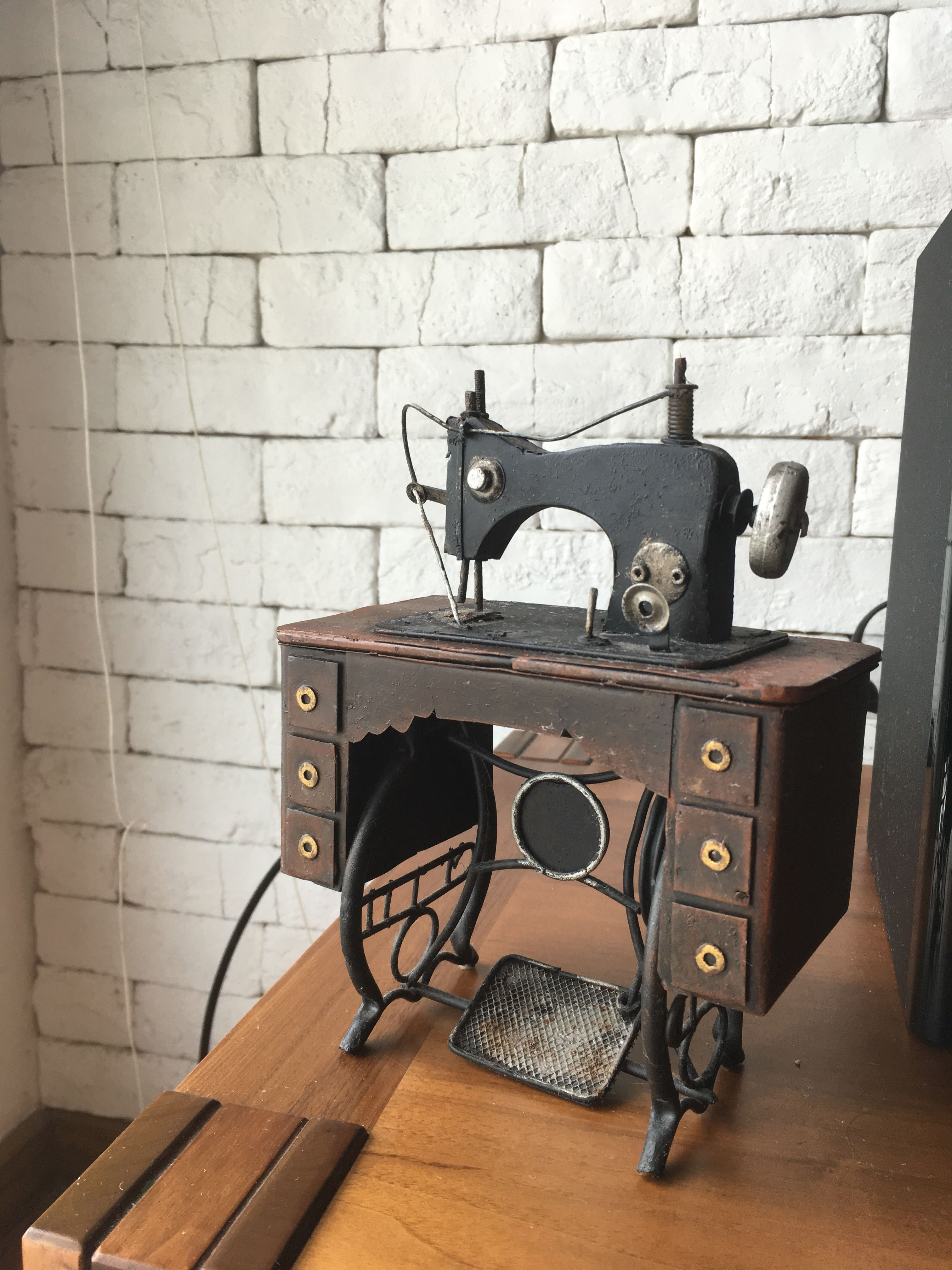 Vintage Sewing Machine Model Furniture