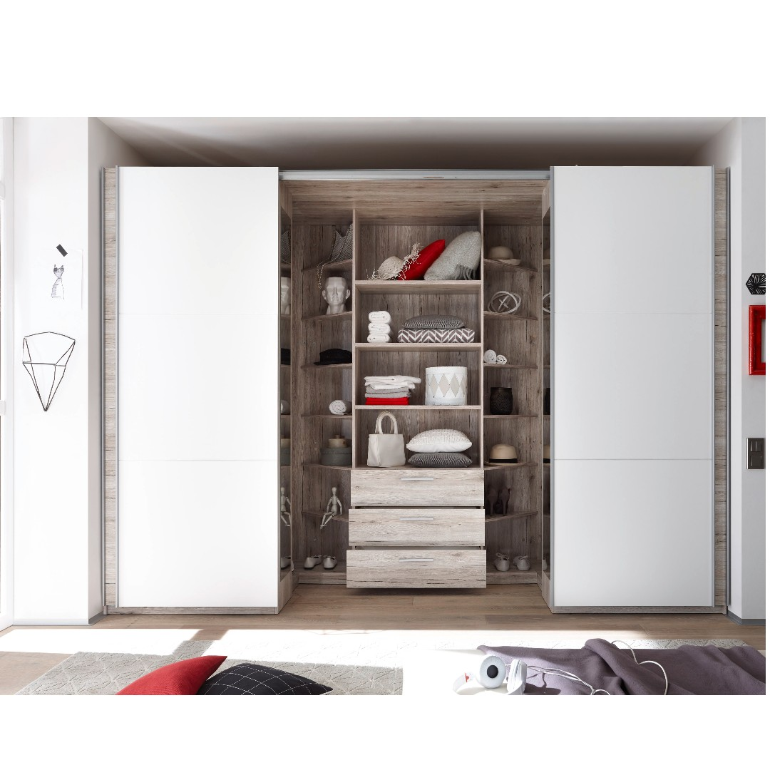 new products e1e14 2afc3 Walk in wardrobe with sliding doors 315cm, Furniture ...