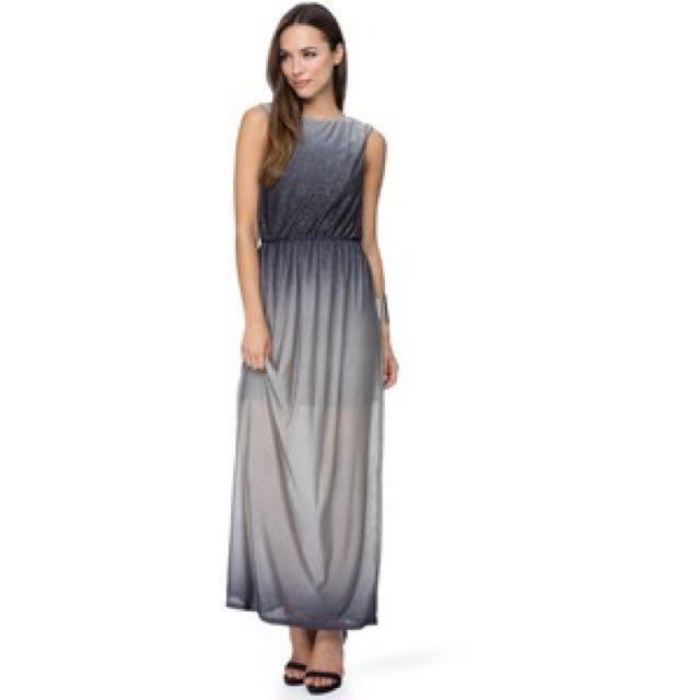 57b9025b184c WAREHOUSE - Glitter Ombré Maxi Dress
