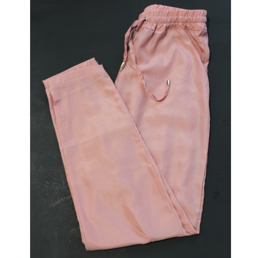 Women's Peach Linen Pants (Size S)