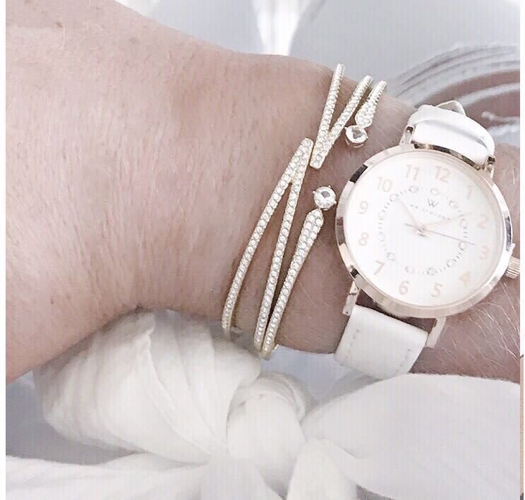 29d8a3451f4 WRISTOLOGY Charlotte Womens Petite Watch Rose Gold Numbers White Leather Ladies  Changeable Strap Band
