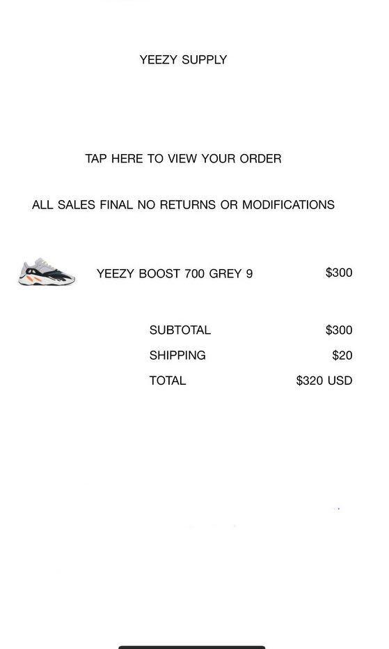 hot sale online 44e43 64592 Yeezy Boost 700 Grey US9, Men's Fashion, Footwear, Sneakers ...