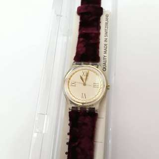 Original Swatch Roman Numeral Genuine Leather New With Box And Paper