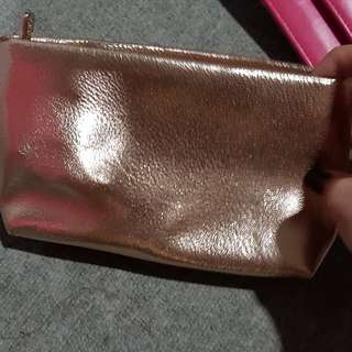 Gold make up kit pouch