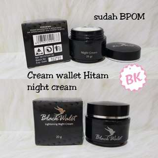 [NIGHT CREAM] Black Walet Lightening Night Cream / Cream wallet hitam