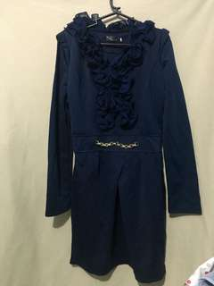 Formal Ruffled Blue Dress