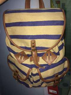 MOSSIMO SUPPLY CO. STRIPED DRAWSTRING TYPE BACKPACK
