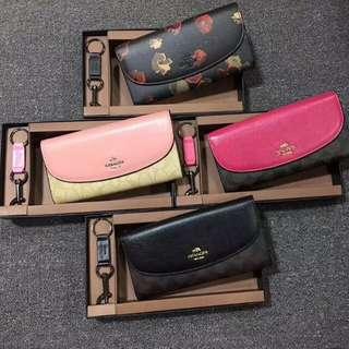 coach woman wallet set