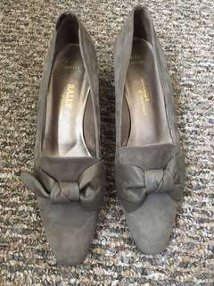 Bally suede and leather block heels 9.5